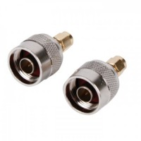 SMA adapter plug n-connector gold plated
